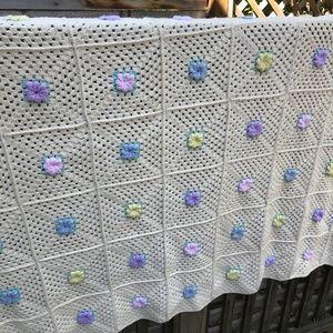 vintage granny square afghan crochet blanket throw